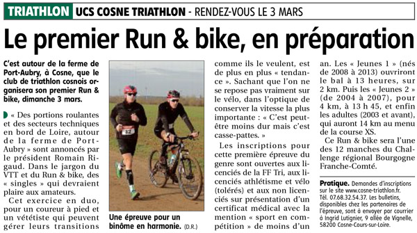 cosne triathlon bike and run